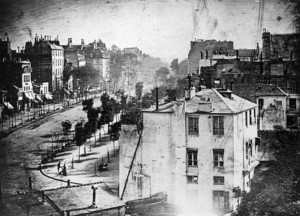 Photograph of Boulevard du temple a daguerreotype made by louis daguerre 1838