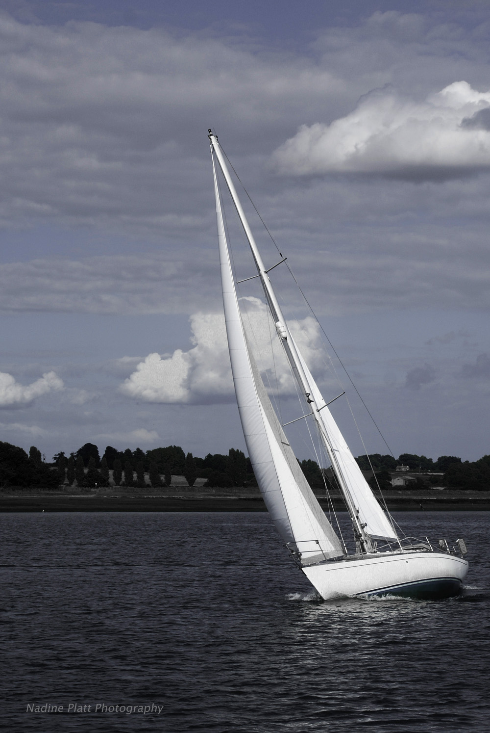 White Sails on the Orwell River