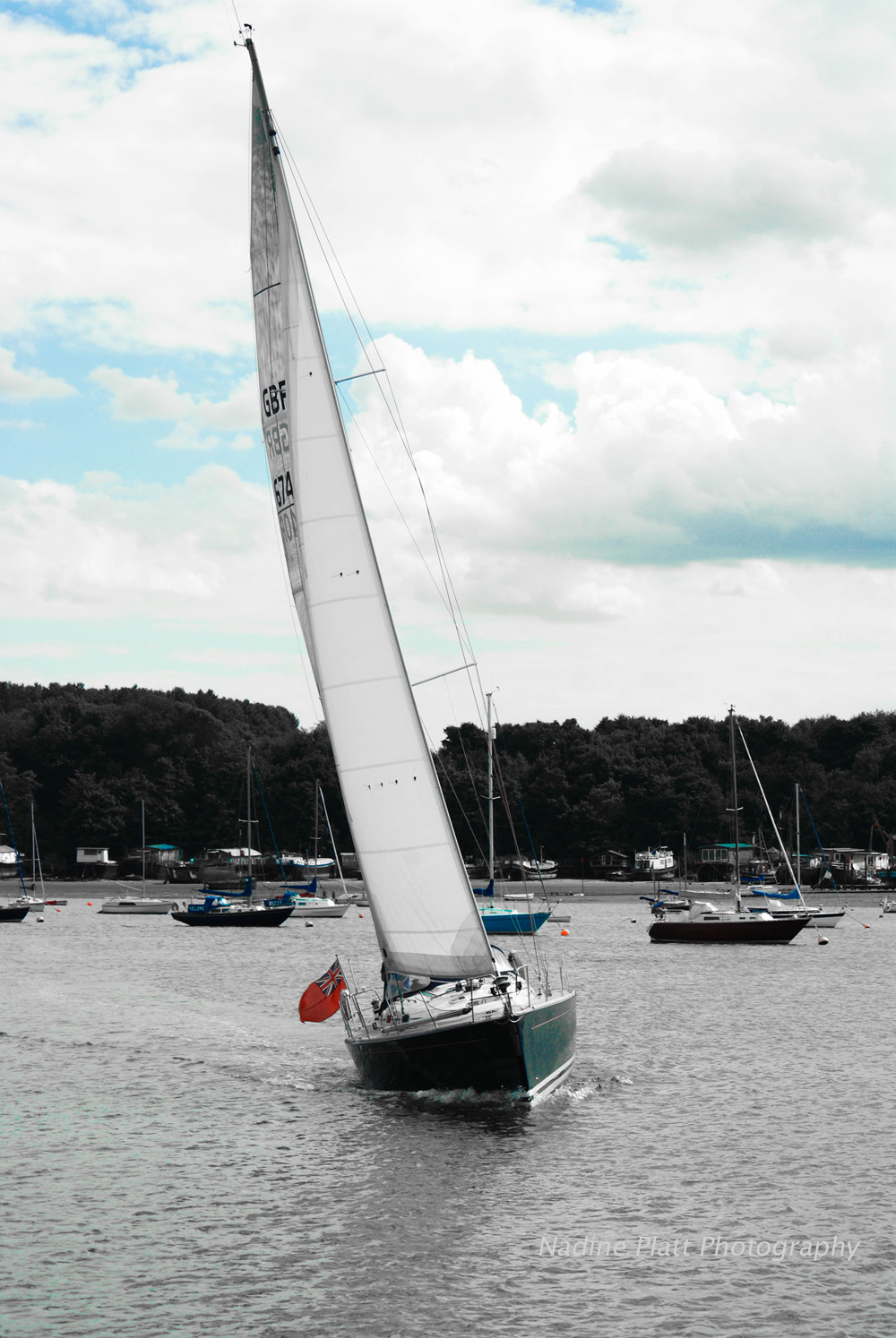 Yacht on the River Orwell
