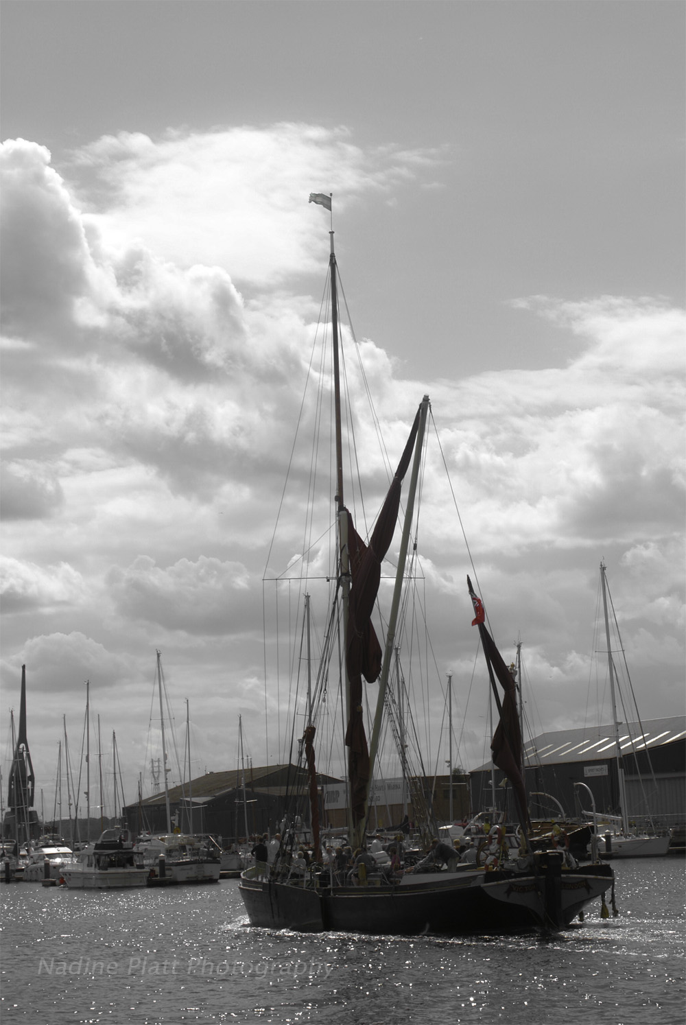 Photograph of a Thames Barge