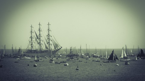 Old Style photograph of Tall Ships Regatta 2014