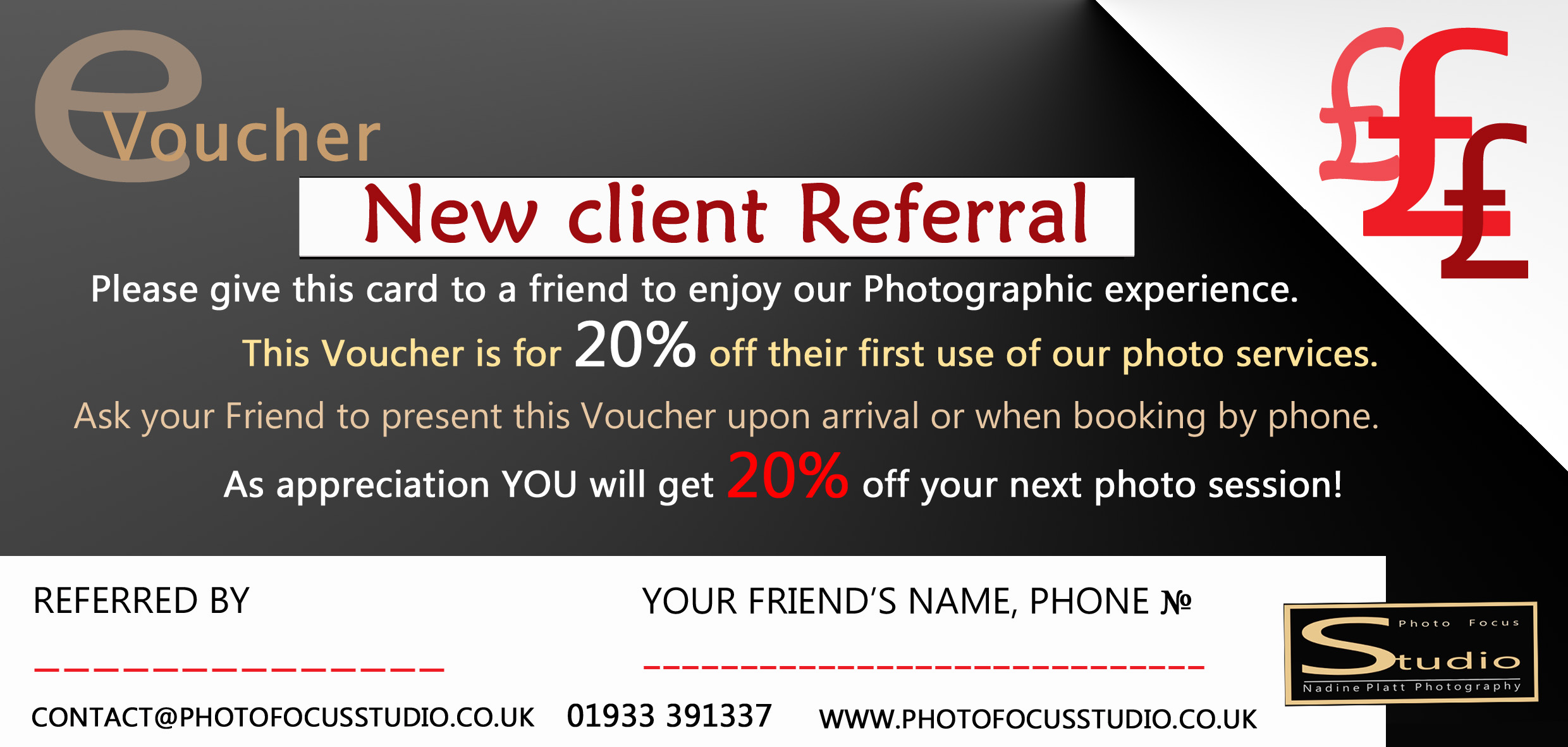photo focus studio referral vouchere