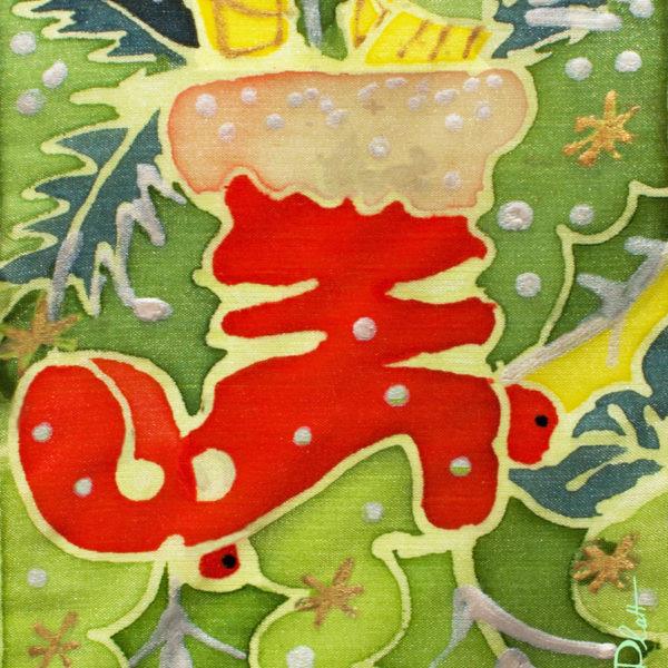 "Greeting Card "" Santa's Presents"" design by Nadine Platt"