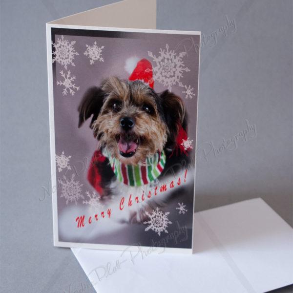 Christmas Greeting Card with a Dog by Nadine Platt 1
