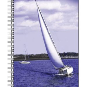 Designer Notebook with White Sailsby Nadine Platt