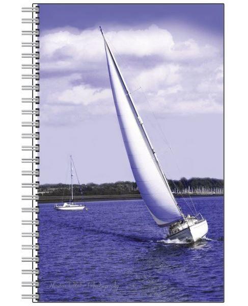 Designer Notebook with White Sailsby Nadine Platt