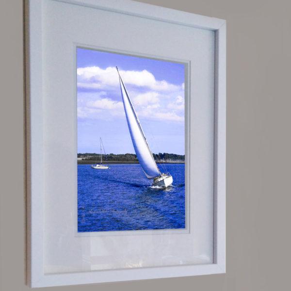 "Framed Print ""White Sails"" by Nadine Platt"